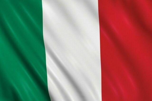 BANDIERA ITALIA ITALIANA 150X90 CM CON ASOLA PER ASTA TRICOLORE GRANDE ITALY NE