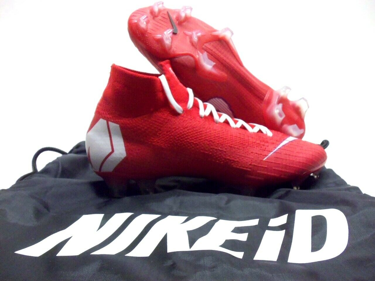 NIKE SUPERFLY 360 ELITE FG ID ACC SOCCER CLEAT RED WHITE SIZE MEN 6 [AQ4857-998]