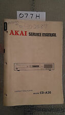 akai cd-a30 Service Manual Original Factory Repair book cd player compact disc