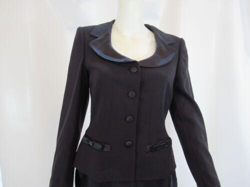 ESCADA COUTURE Black Silk Pant Suit Size 34