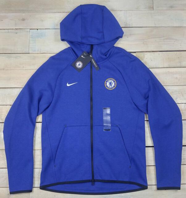 Nike Men's Tech Fleece Chelsea FC Full Zip Hoodie Small S Ah5198 495 Blue