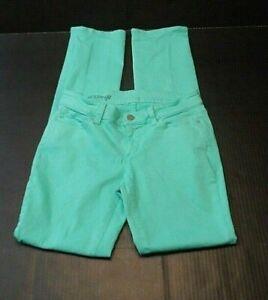 Ann-Taylor-Womens-Jeans-Size-4-Modern-Fit-Stretch-Low-Rise-Green-Denim