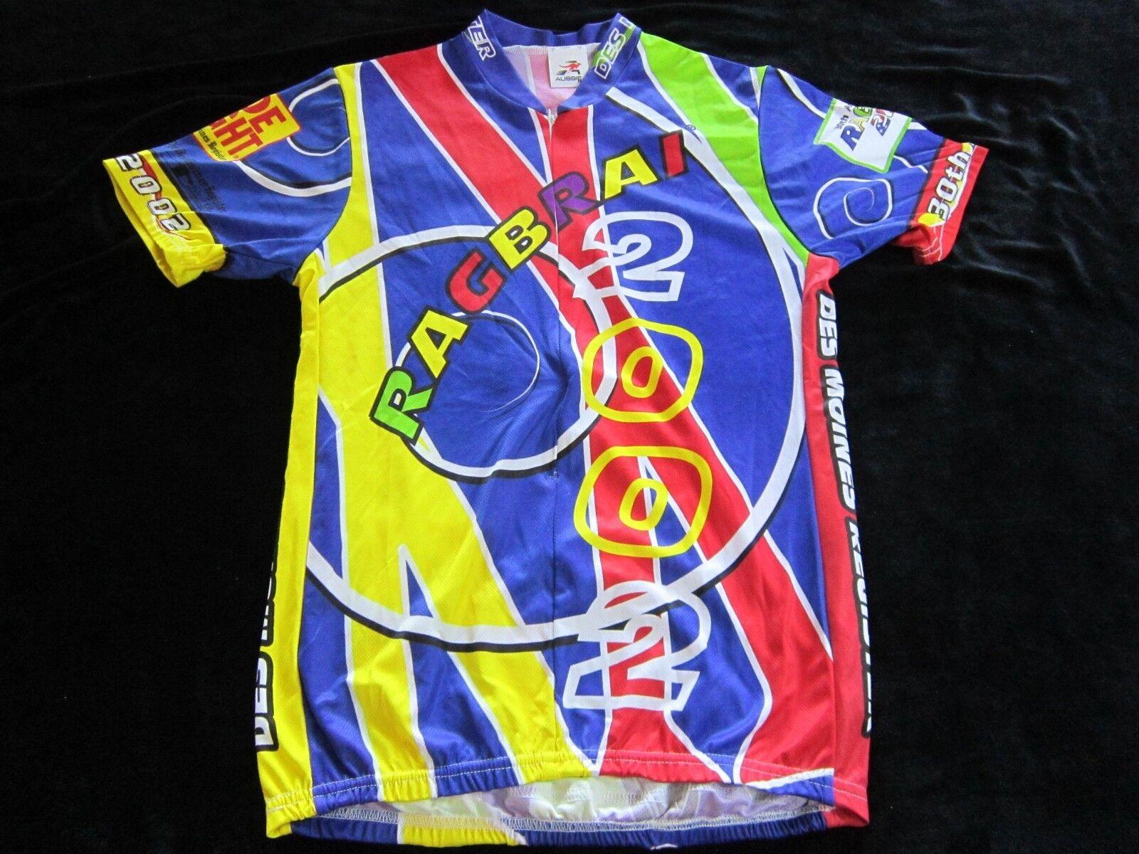 Ragbrai Bicicletas Jersey 2002 Ride adulto medio M Iowa Ciclismo 30 Des Moines