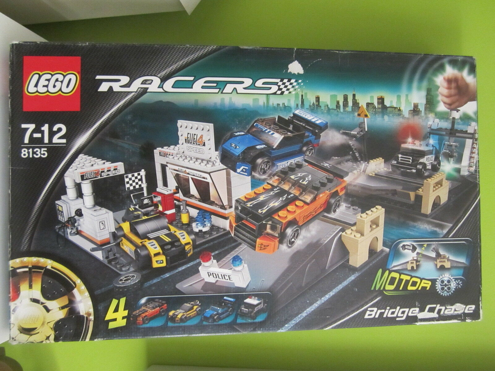 LEGO AÑO 2007 REFER 8135 RACERS   MOTOR BRIGDE CHASE