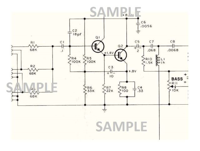 vox amplifier berkeley ii v1081 schematic diagram parts value and location  pdf