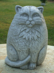 Art deco cast stone cat concrete cement lawn garden statue art deco cast stone cat concrete cement lawn workwithnaturefo