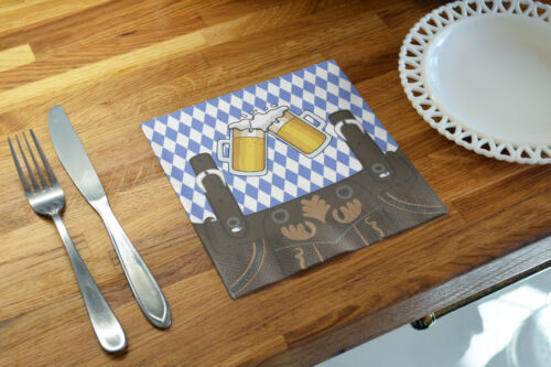 20x Stück Servietten 33x33 cm Wiesn Oktoberfest Blau weiß Bayern