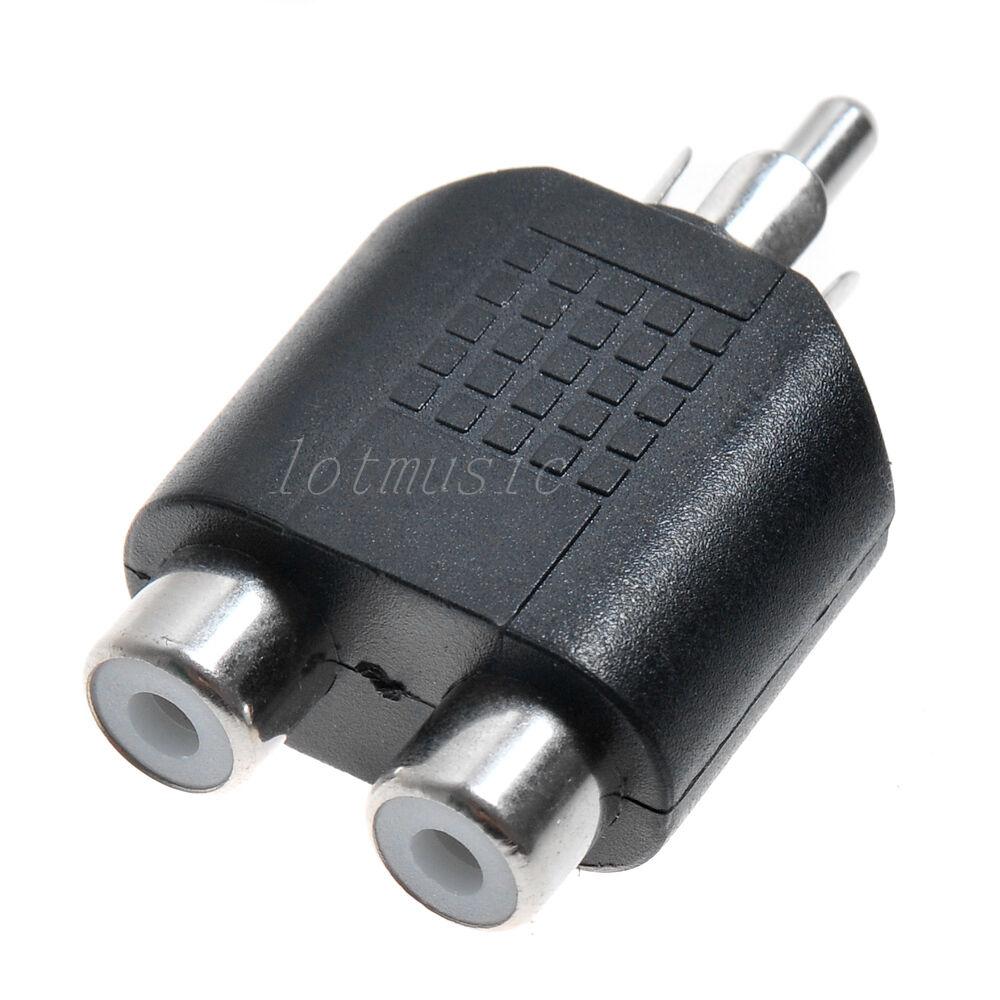 100 Rca Y Splitter Av Audio Video Plug Converter 1male To