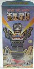 METAL HOUSE JAPANESE TIN TOY SPACE EVIL MACHINE GUN ROBOT COLLECTORS LTD ED.