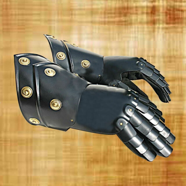 Medieval Gauntlets Functional Knight Mitten Gloves Re-enactment Larp Sca