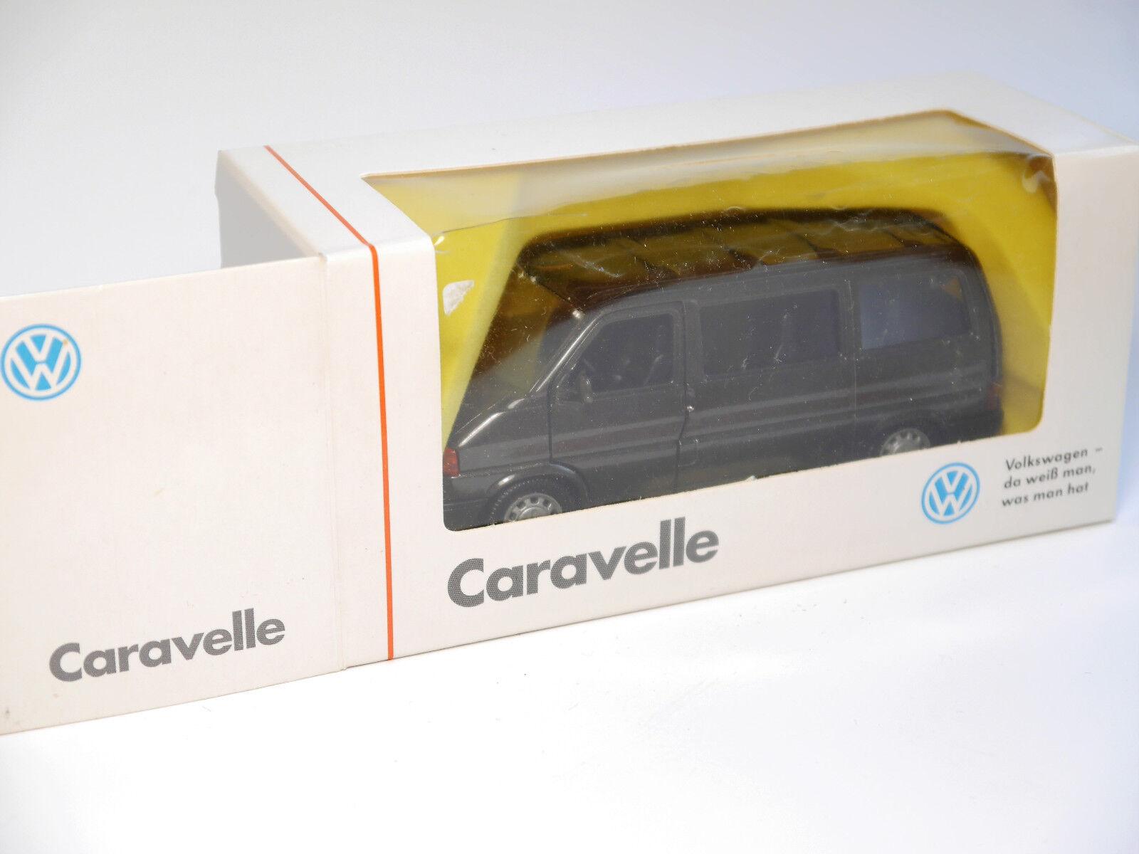 VW COMBI BUS t4 T 4 Caravelle anthracite métallisé, SCHABAK 1 43 Dealers intérieur jaune