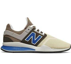 New-Balance-247-Classic-Casual-Running-Shoes-Bone-Mushroom-Blue-MS247NMC-Mens