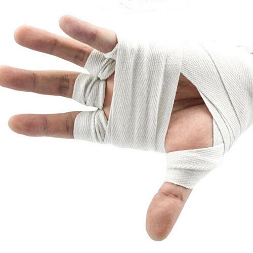 2PCS 2.5M 108/'/' BOXING HAND WRAPS BANDAGES INNER PUNCH BAG GLOVES WRIST PALM