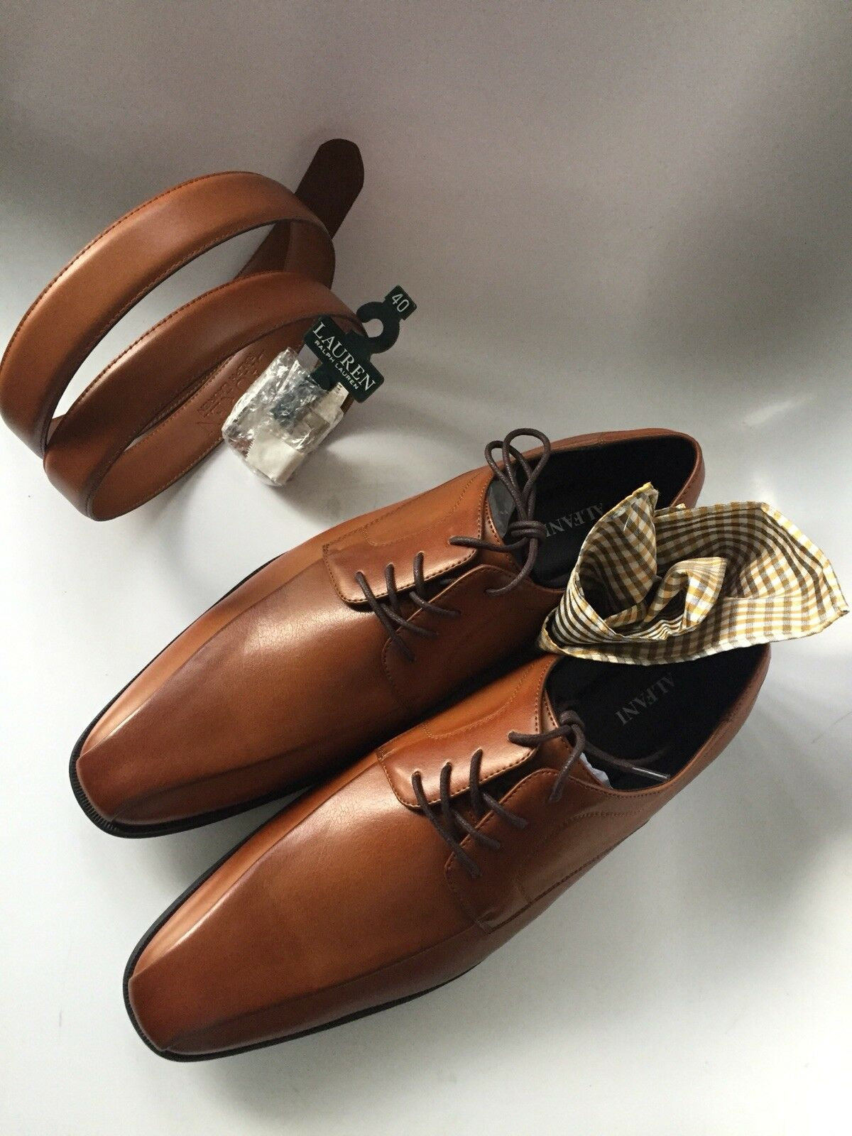 033b397532e4 ... Men s Men s Men s Alfani Seth Tan Dress shoes Size 13 M Ralph Lauren  Belt Sold Separately ...