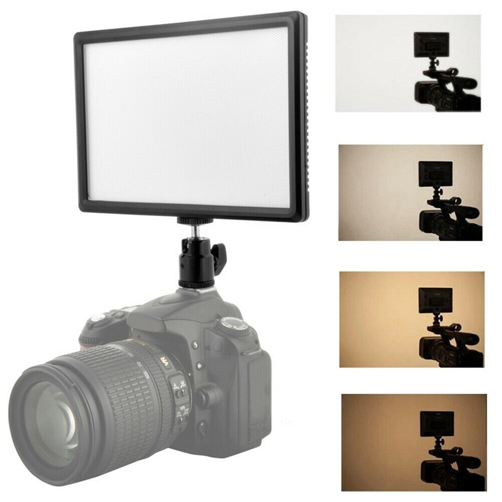 Video Camera LED Digital Flat Panel Fill Light for Studio Photography Lighting