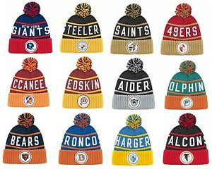 60fac826b Details about New NFL Mitchell & Ness Throwback High Five 5 Cuffed Winter  Hat Cap Knit Beanie