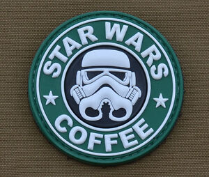 PVC-Rubber-Patch-034-Star-Wars-Coffee-034-with-VELCRO-brand-hook