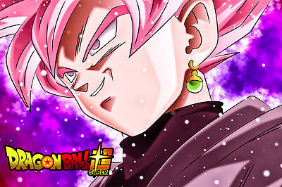 11x17 13x19 DBZ Goku Black Super Saiyan Rose Art Poster by Inking Solstice