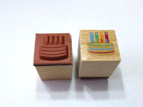Motivstempel Torte Stempel Stamping  ca:20 x 20mm Kartengestaltung  Basteln
