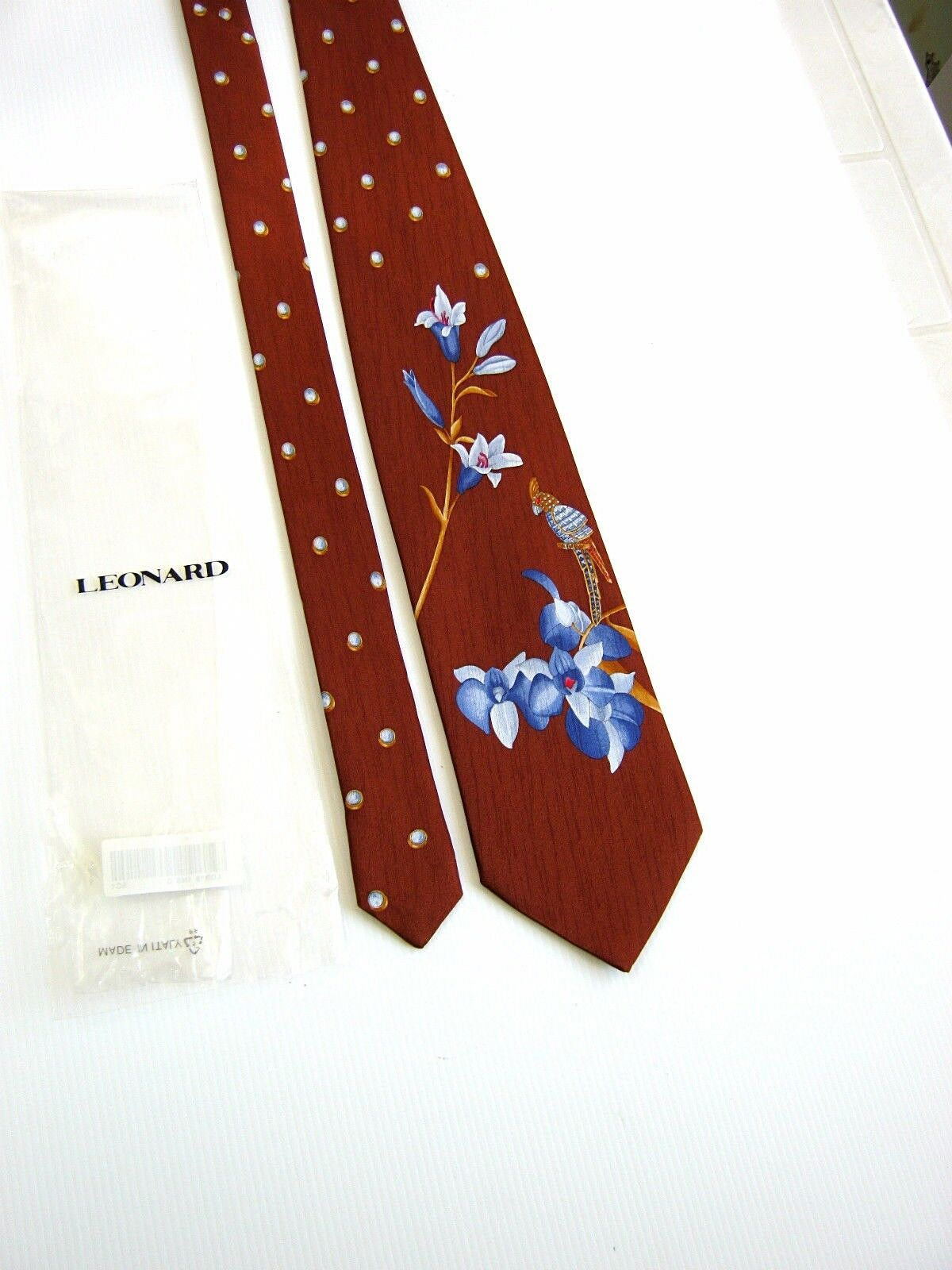 LEONARD Paris NUOVA NEW Originale SILK DESSIN 71400 MADE IN ITALY