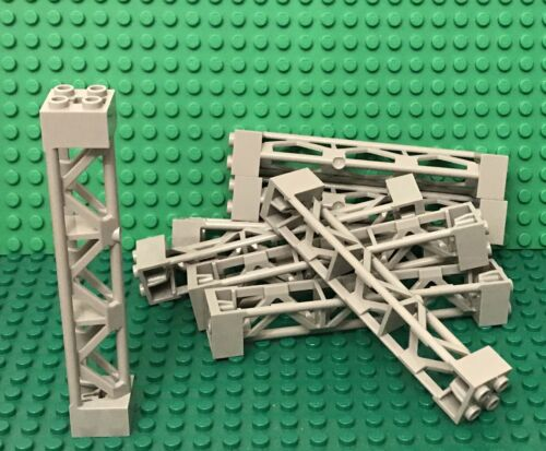 Type 4 Lego X8 Light Bluish Gray Support 2x2x10 Girder Triangular Vertical