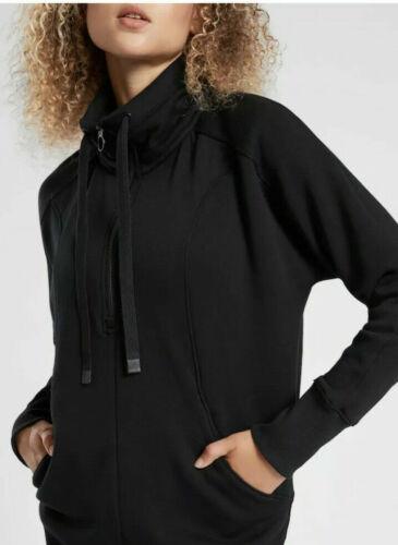 M Medium TALL Black Soft Fleece ATHLETA Cozy Karma 1//4 Zip Sweatshirt Dress
