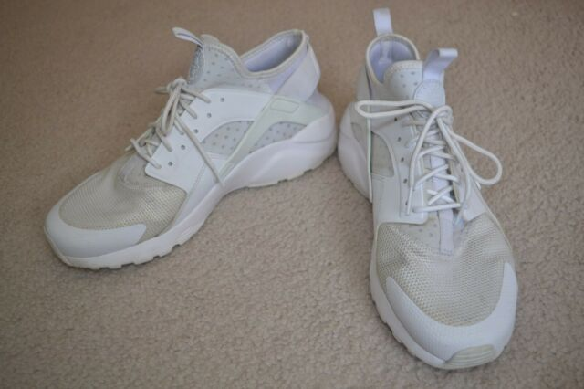Nike AIR HUARACHE Run Ultra Triple White 819685 101 Men's US 10.5 Pre owned