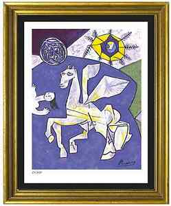Pablo-Picasso-Signed-Hand-Numbered-Ltd-Ed-034-Temple-Peace-034-Litho-Print-unframed