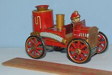 1916 FIRE ENGINE - LinMar Toys - Japan - Friction Toy - Tin Toy Fire Engine