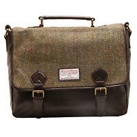 The British Bag Company - Green Check Harris Tweed Hunter Messenger Bag
