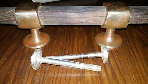 preciosa cornamusa velero clásico bronce/laton y teca 50 cm longitud - España - preciosa cornamusa velero clásico bronce/laton y teca 50 cm longitud - España