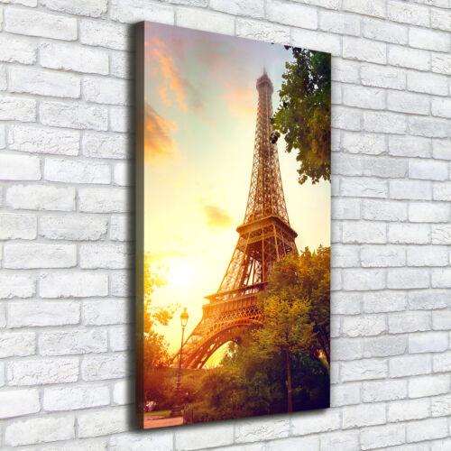 Leinwand-Bild Kunstdruck Hochformat 50x100 Bilder Eiffelturm Paris