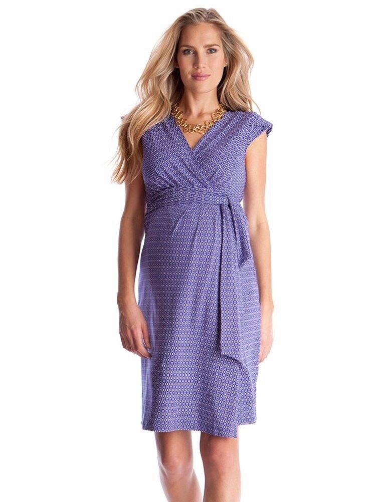 EUC Seraphine Purple Maternity Dress Size 4
