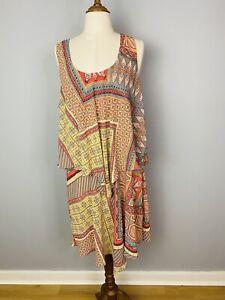 Katies Women's Plus Size layered Flowy Dress Size 16