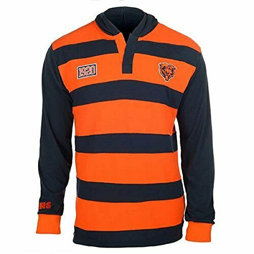 KLEW Men/'s NFL Chicago Bears Cotton Rugby Hoodie Shirt