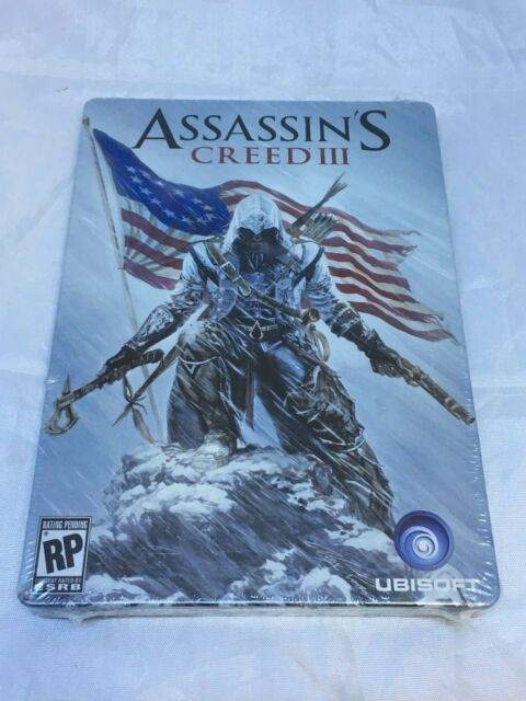 Assassin's Creed III Steelbook Case G1 Microsoft Xbox 360, 2012 Brand New