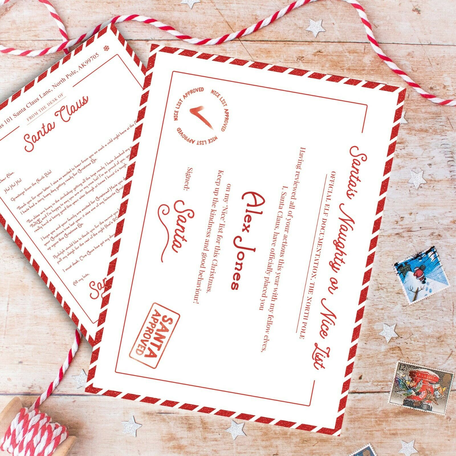 Write Your Own Letter To And From Santa Father Christmas Xmas With Envelopes Kit