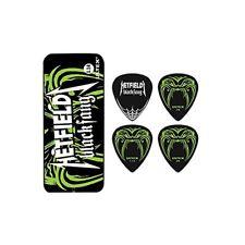 DUNLOP Collectable Hetfield Black Fang 1.14mm Guitar Pick Tin W 6 Picks