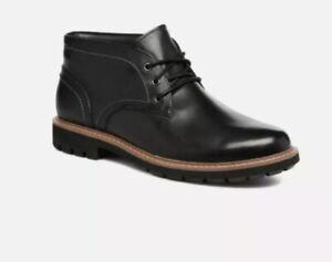 mens black leather chukka boots uk
