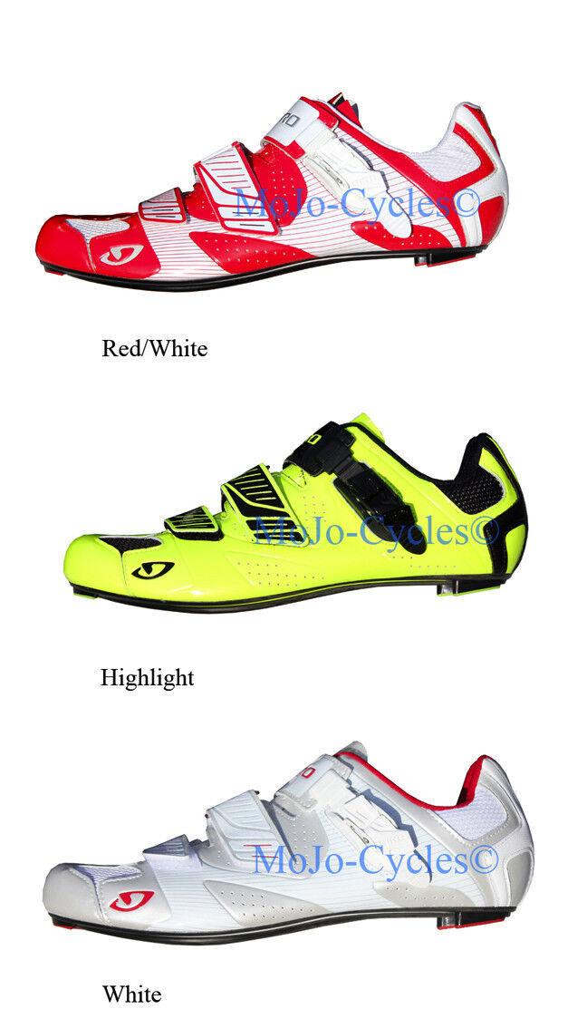 Giro Factor Easton EC90 Carbon sole Road schuhe Weiß rot Gelb New Look