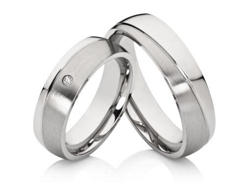 2 Eheringe Trauringe Hochzeitsringe Verlobungsringe Edelstahl /& gratis Gravur
