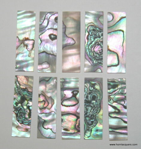 10pcs inlay material green abalone shell blanks size 30 x 8.5 x 1.0mm premium