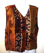 GLOBE TROTTER 100% Rayon Hand Made Women's Embellished Multi-Color Vest Size XL
