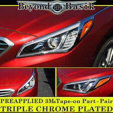 For 2015 2017 Hyundai SONATA TChrome Headlight Bezels Covers Trims Overlays Trim
