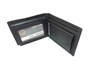 Original-Leather-Money-Wallet-Purse-for-Men-Gents-with-Card-Slots-Black