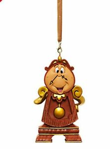image is loading bnwt disney store cogsworth clock beauty amp beast - Disney Beauty And The Beast Christmas Decorations