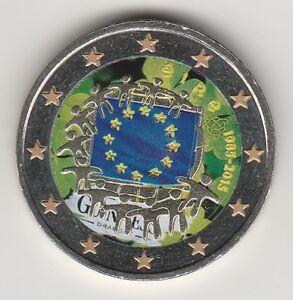 --- 2015A  2 EURO C0ULEUR IRLANDE EIRE ---  30 ANS DRAPEAU EUROPEEN