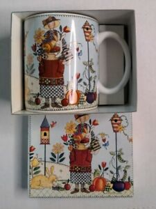 Lang and Wise DAYS OF PLENTY Ceramic collector Coffee Mug 1998 With box