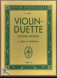 Violin-Duette-aelterer-Meister-Heft-2-herausgegeben-von-ABEL-MARTEAU