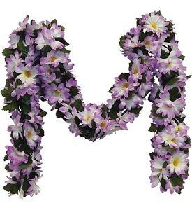 LAVENDER Daisy Chain Garland Silk Wedding Flowers Arch Gazebo Decor
